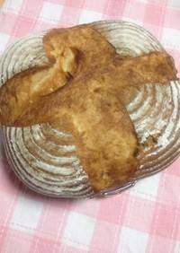 自家製酵母で胡桃とチーズのカンパーニュ