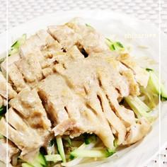 レンジで簡単美味☆柔らか鶏むね肉の棒棒鶏