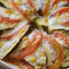 超簡単イタリアン★トマトとなすのチーズ焼