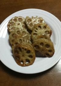 レンコンのハサミ焼き