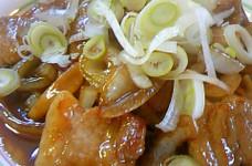 豚バラ肉のトンテキ風炒め