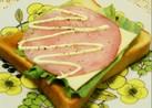 サンドイッチ風♡ハムチーズレタストースト