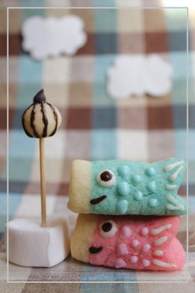 ケーキの飾りに…こいのぼりクッキー♪