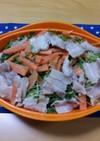 塩麹豚とたっぷり野菜の温サラダ