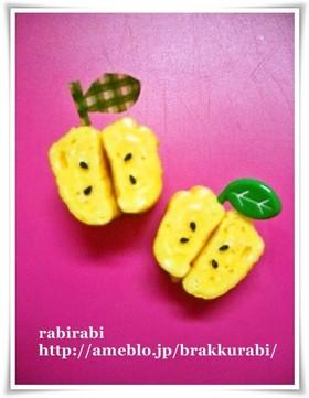 【キャラ弁★簡単‥卵焼きdeりんご】
