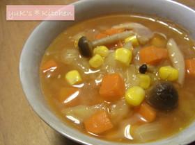 ベーコンとコーンのファイトケミカルスープ