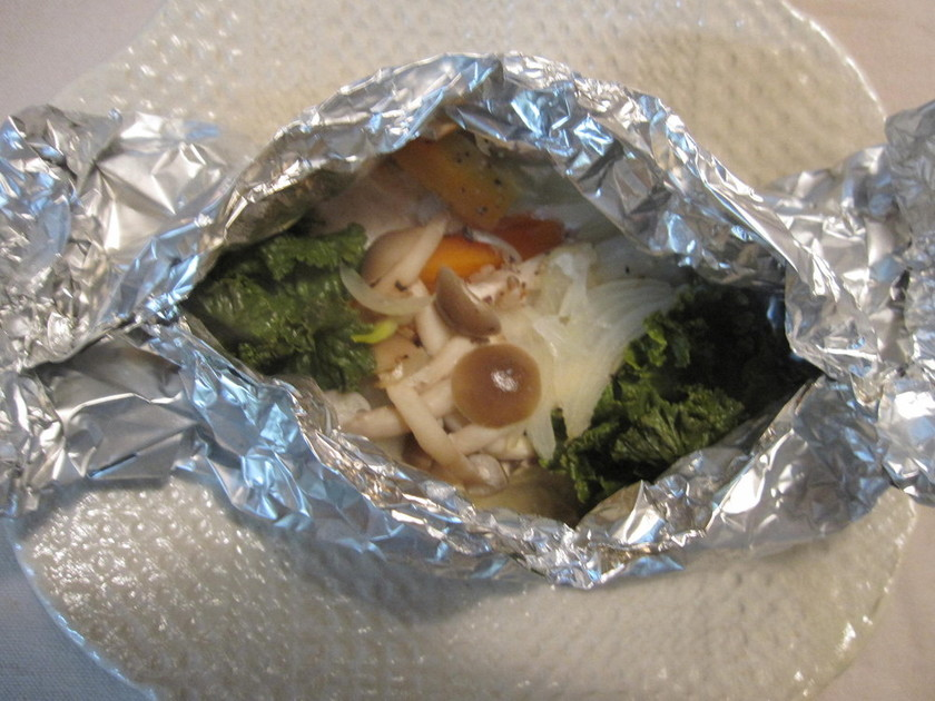 ☆カジキと野菜の塩麹味ホイル蒸し☆