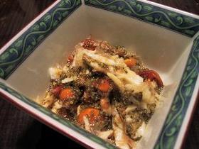 トンブリとナメコとヤマイモの小鉢