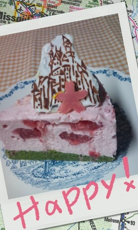 簡単!ゼリエースで苺レアチーズケーキ