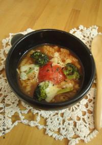 まるごとトマトが入ったごちそうスープ