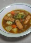 ウインナーのカレースープ