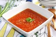 春のキヌアリゾットスープの写真