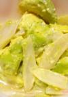 うどとアボカドのサラダ
