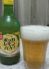 ビールにレモン♪