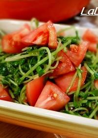 簡単♪豆苗とトマトの甘いナムル