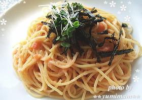 めんつゆで作る☆たらこスパゲティ