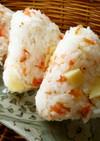 桜エビ+チーズのお花見おにぎり
