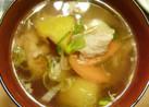 豚とサツマイモの塩麹味噌汁(豚汁)