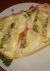 かまぼこチーズトースト
