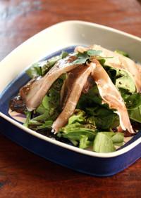腹快腸ルッコラと生ハムのバルサミコサラダ