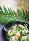 *のらぼう菜と高野豆腐の親子煮*