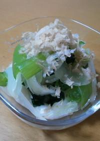 小松菜とたまねぎのとろろあえ