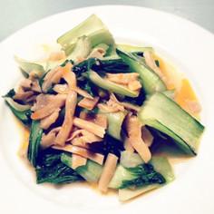 青梗菜と穂先メンマ。