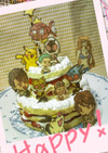 子ども喜ぶキャラデコ2段ケーキ