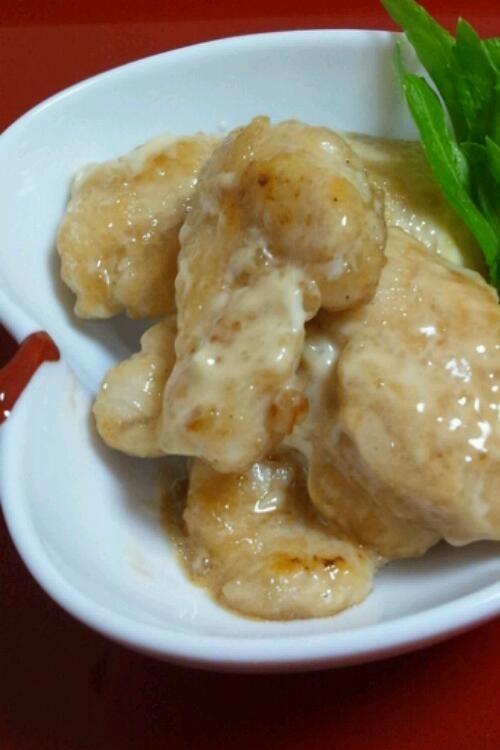 簡単彼ご飯❤鶏むね肉のわさびマヨ