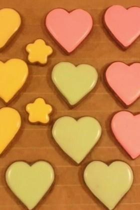③本気☆アイシングクッキーの下地塗り
