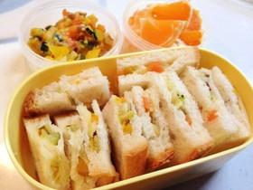 <離乳食>1歳のお弁当(サンドイッチ)