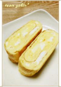 チーズin白だしde玉子焼き♡