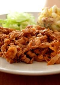 豚肉と玉ねぎのケチャップソース炒め