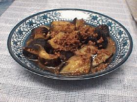 茄子と挽肉の甘酢しゅうゆ