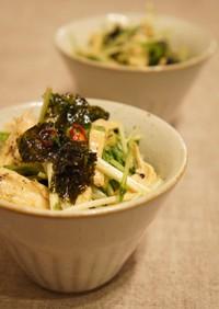 水菜と蒸し鶏の海苔マヨ和え