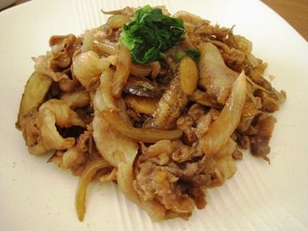 簡単☆豚肉とごぼうの炒め物