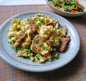 ほんだしが決め手!豆腐と卵の炒め物