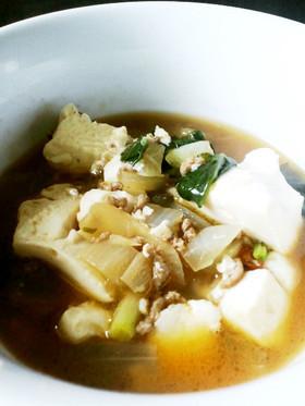 【風邪に速効!】生姜豆腐スープ