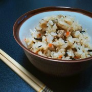 ■ジューシー■沖縄の炊き込みご飯。の写真