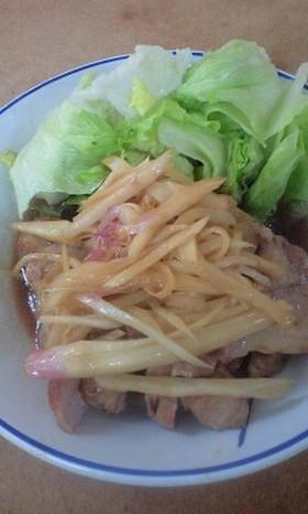豚肉の新生姜焼き