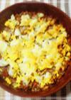 ミートソースで♪ポテトと玉子のチーズ焼き