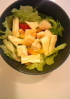 サンドイッチの残りで 簡単サラダ