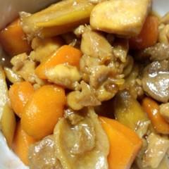 簡単!鶏肉とゴボウの煮物