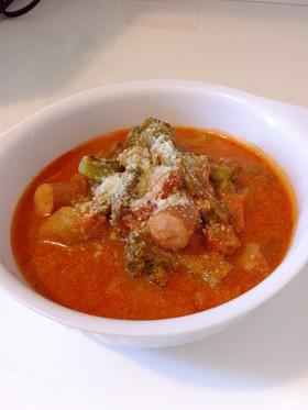 *ブロッコリーのトマトスープ*