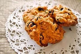 レーズンとくるみのドロップクッキー