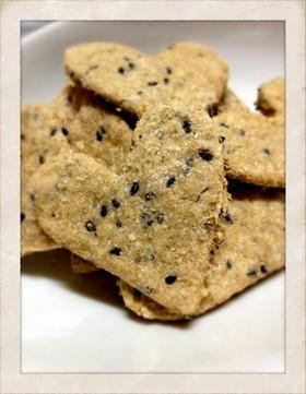 【生おから】全粒粉で黒ごまクッキー♥