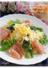 菜の花のペペロンチーノ ミモザ風