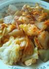 キャベツと蒟蒻の塩麹キムチ炒め☆