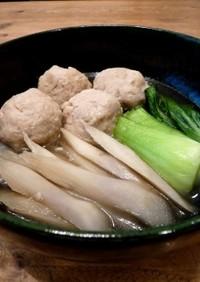 簡単! 塩麹で鶏団子と牛蒡のあっさり煮物