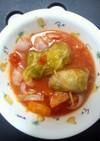 豚バラロールキャベツトマト煮込み